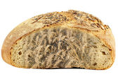 Bread and wheat on white — Zdjęcie stockowe