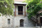 Old stone house entrance greece — Stock Photo