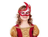 Little girl theater actress with mask — Stock Photo