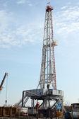 нефть буровой установки тяжелой промышленности — Стоковое фото
