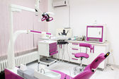 Dental practice with chair and equipment — Stock Photo