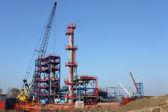 New petrochemical plant construction site — ストック写真