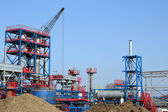 Heavy industry new plant construction site — Foto Stock