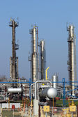 Oil industry petrochemical plant detail — 图库照片