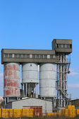 Old concrete factory industry zone — Stock Photo