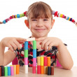 Beautiful little girl play with plasticine — Stock Photo #44126137