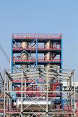 Nowe budowy fabryki petrochemicznych — Zdjęcie stockowe