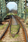 Old railway and bridge transport background  — Stock Photo