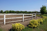 Ranch with corral for horses — Stock Photo