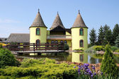Castle with pond Eastern Europe Serbia — Stock Photo