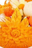 Flower vegetables decorated salad close up — Stock Photo