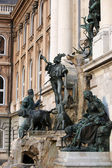 Buda castle Matthias fountain Hungary — Stock Photo