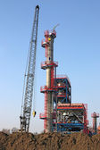 Zona de indústria de local de construção de fábrica — Fotografia Stock
