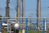 Petrochemical plant pipelines oil industry — Stock Photo