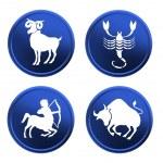 Blue zodiac signs - set 3 — Stock Photo #1742986