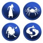 Blue zodiac signs - set 2 — Stock Photo #1743005