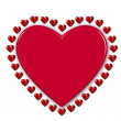 Red heart surrounded by hearts — Stock Photo #1829641