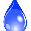 Illustration of a blue waterdrop — Stock Photo #2946316