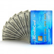 Payments - dollar bills and credit card - concept illustration — Stock Photo #12424340