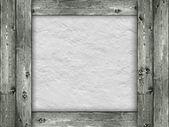 Modello - sfondo muro grezzo e legno — Foto Stock