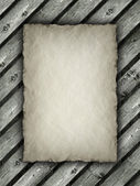 Template - Paper sheet on wood background — Stock Photo