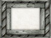 Sfondo modello - foglio di carta sulla cornice in legno — Foto Stock