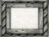 Template background - paper sheet on wooden frame — Stock Photo