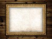 板の背景に画像のフレーム — ストック写真