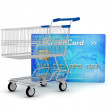 Credit card and shopping cart as a shopping concept — Stock Photo #15720819