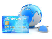 Credit card payment - concept illustration — Stock Photo