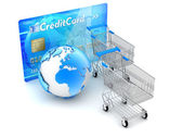 Online shopping and payments - concept illustration — Stock Photo