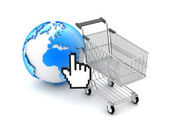 E-shopping - Concept illustration — Stock Photo