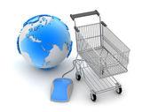 Internetové nakupování - koncepce ilustrace — Stock fotografie