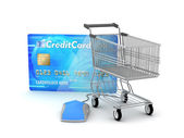 Online payments - e-shopping concept illustration — Stock Photo