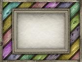 Plantilla - marco sobre fondo de color tablones — Foto de Stock