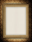 Template - blank sheet in picture frame — Stock Photo