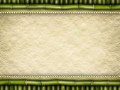 Vorlage hintergrund - handgeschöpftes papier und bambus — Stockfoto