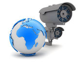 Security - video surveillance camera — Stock Photo