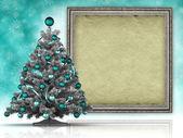 Albero di Natale e il foglio di carta fatta a mano — Foto Stock