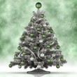 Xmas tree on green background — Foto Stock