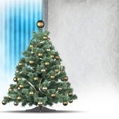 Christmas tree and blank space in background for text — 图库照片