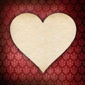 Valentines day - heart with handmade paper — Stock Photo