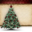 Christmas background - xmas tree and blank space for text — Stock Photo