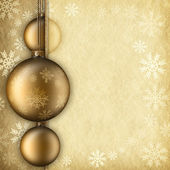 Christmas background - baubles, snowflakes and blank space for t — Stock Photo