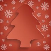 Christmas background - abstract xmas tree — Stockfoto