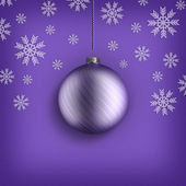 Christmas background - bauble and snowflakes — Stock Photo