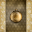 Gold Christmas bauble — Stock Photo