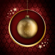 Golden Christmas bauble — Stock Photo #36524707