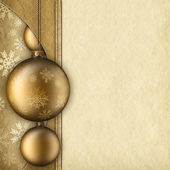 Christmas background - baubles and paper sheet — Foto de Stock