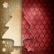 Christmas background - shape of xmas tree and stars — 图库照片